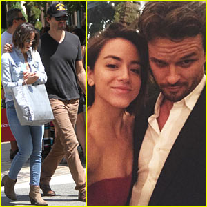 Austin Nichols & Chloe Bennet Couple Up at Friend's Wedding