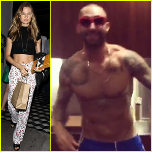 Behati Prinsloo Shares Adam Levine's Shirtless Cooking Mishap!