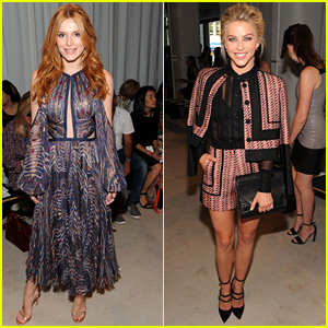 Julianne Hough & Bella Thorne Check Out J. Mendel's Show At NYFW