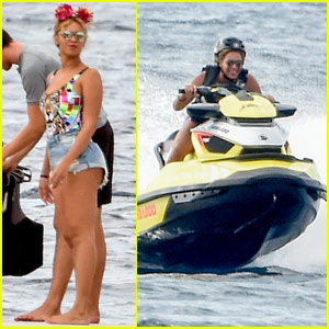 Beyonce Goes For A Jet Ski Ride While Vacationing In Italy