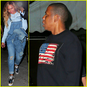 Beyonce Wears a Denim Outfit for Date Night with Jay Z