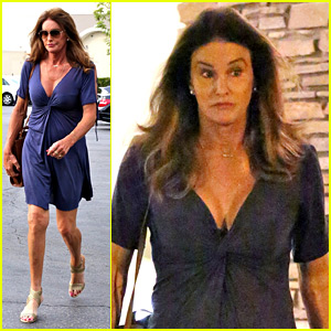 Caitlyn Jenner Flaunts Some Cleavage in Low-Cut Dress