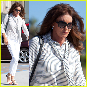 Caitlyn Jenner Rocks White Skinny Jeans for Monday Outing