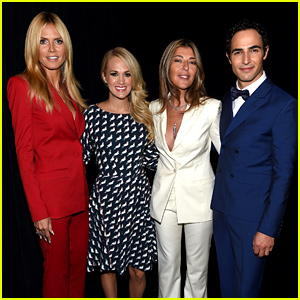 Carrie Underwood Guest Judges 'Project Runway' NYFW Show with Heidi Klum!