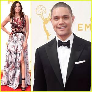 Trevor Noah & Chelsea Peretti Hit the Emmys Red Carpet 2015