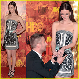 Chris Hardwick Proposes to Lydia Hearst Again at Emmys Party