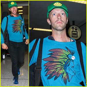 Chris Martin Jets to Los Angeles After Global Citizen Fest