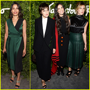Demi Moore Helps Ferragamo Celebrate 100 Years In Hollywood With Daughters Tallulah & Scout!