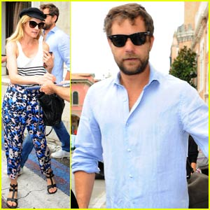 Joshua Jackson & Diane Kruger Hit Up the Italian Cinema