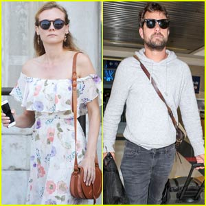 Diane Kruger Rests in Venice as Joshua Jackson Heads Home