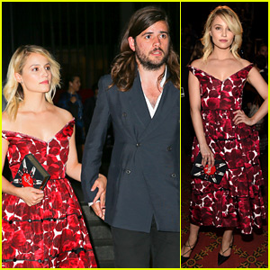 Dianna Agron & Boyfriend Winston Marshall Hold Hands at Marc Jacobs NYFW Show!