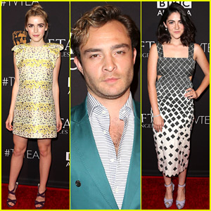 Ed Westwick & Kiernan Shipka Get Dressed Up for a Tea Party