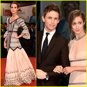 Eddie Redmayne Brings His Wife to 'Danish Girl' Premiere