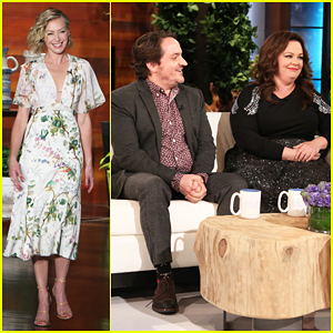 Ellen & Portia De Rossi Face-Off Against Melissa McCarthy & Ben Falcone In 'Not So Newlywed Game'!