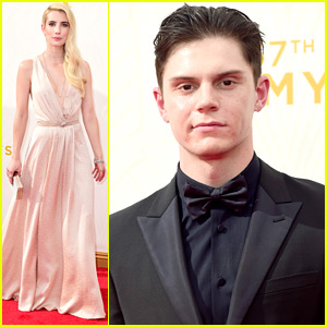 Emma Roberts & Evan Peters Reunite For Emmy Awards 2015