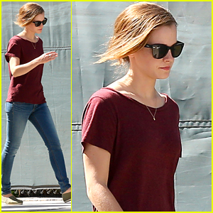 Emma Watson Goes Casual For 'The Circle' Filming Before The Weekend