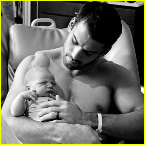 Eric Decker Goes Shirtless in Photo with Newborn Baby Boy