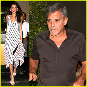 George & Amal Clooney Dine Out Before First Anniversary