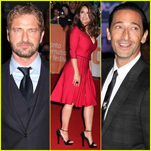 Gerard Butler Joins Salma Hayek & Adrien Brody At TIFF For 'Septembers Of Shiraz' Premiere!