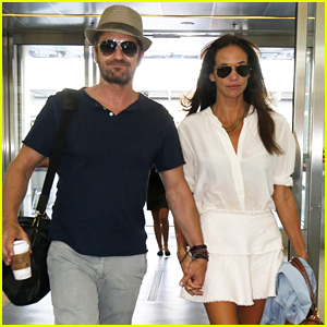Gerard Butler & Girlfriend Morgan Brown Leave Toronto Together