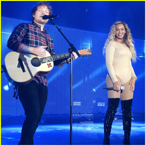 Beyonce Takes the Stage With Ed Sheeran at Global Citizen Festival 2015