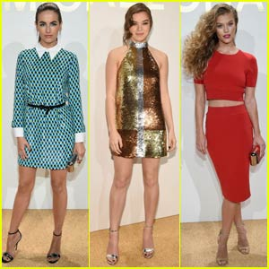 Camilla Belle Dresses Up for Michael Kors Fragrance Launch With Hailee Steinfeld