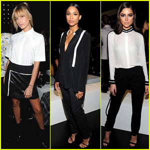 Hailey Baldwin, Ciara, & Olivia Culpo Sit Front Row at the Public School NYFW Show!