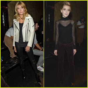 Hailey Baldwin Checks Out Rag & Bone With Kiernan Shipka