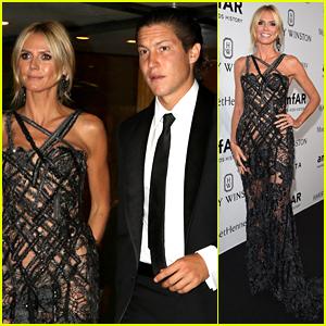 Heidi Klum & Vito Schnabel Couple Up at amfAR Milano Gala
