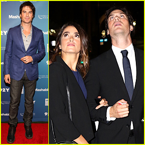 Ian Somerhalder & Nikki Reed Look Amazed By the Supermoon