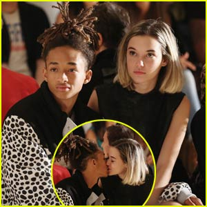 Jaden Smith & Sarah Snyder Pack on the PDA at Fashion Week