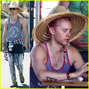 Jared Leto Steps Out for Lunch with Sasha DiGiulian!