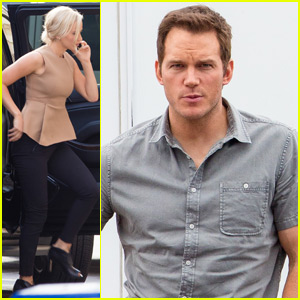 Jennifer Lawrence Shows Off Bleached Blond Hair While Filming 'Passengers' With Chris Pratt