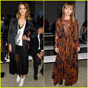 Jessica Alba & Christina Ricci Support Thakoon At NYFW Show!