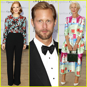 Jessica Chastain & Alexander Skarsgard Step Out to Support the Metropolitan Opera!