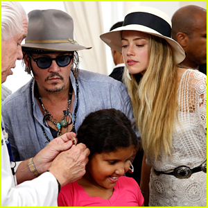Johnny Depp & Amber Heard Gift Hearing Aids to Those in Need