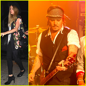 Johnny Depp Gets Wife Amber Heard's Support at Hollywood Vampires Concert!