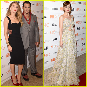 Johnny Depp & Amber Heard Pack on the PDA at 'Black Mass' Premiere!