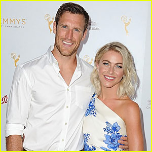 Engaged Julianne Hough & Brooks Laich Couple Up at Pre-Emmys Bash with Derek Hough!