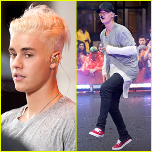 Justin Bieber Debuts Platinum Blonde Hair at 'Today' Show (Videos)