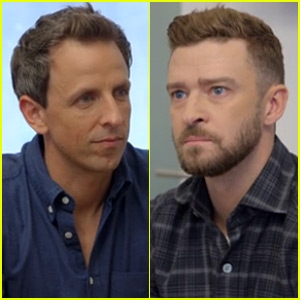 Justin Timberlake Tries (& Fails) to Write Seth Meyers' New Theme Song - Watch Now!