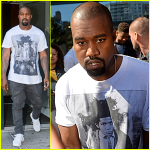 Kanye West Dons A Basquiat Tee While Heading Out in NYC