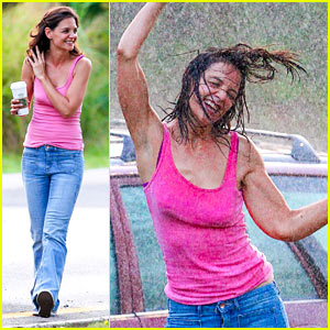 Katie Holmes Dances In the Rain in These Amazing Photos!