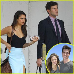 Nina Dobrev & Austin Stowell Couple Up for Kayla Ewell's Wedding to Tanner Novlan!