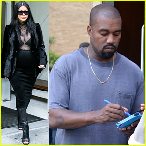 Pregnant Kim Kardashian Puts Her Bra on Display in Sexy Sheer Outfit!