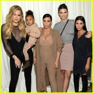 Kim Kardashian & North Support Kanye West at 'Yeezy' Show