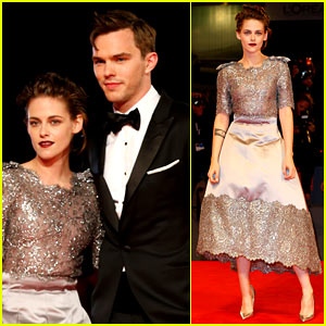 Kristen Stewart Glams Up with Nicholas Hoult for 'Equals' Venice Premiere!