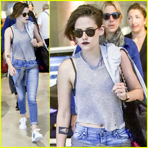 Kristen Stewart Touches Down in Venice for 'Equals' Promo