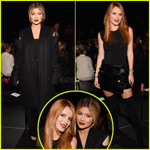 Kylie Jenner Sits With Bella Thorne at Vera Wang Show