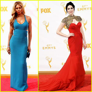 Laverne Cox & Laura Prepon Leave 'Orange' at Home for Emmys 2015